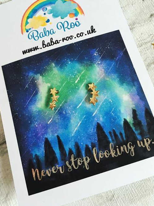 'Never stop looking up' earrings