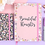 Thumbnail: Floral Silver Foil Edged Notebook