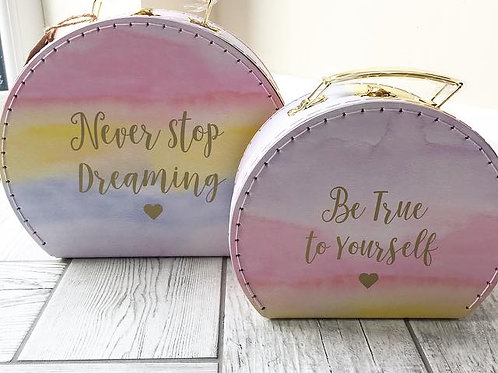 Pastel Positivity Set of 2 Suitcases