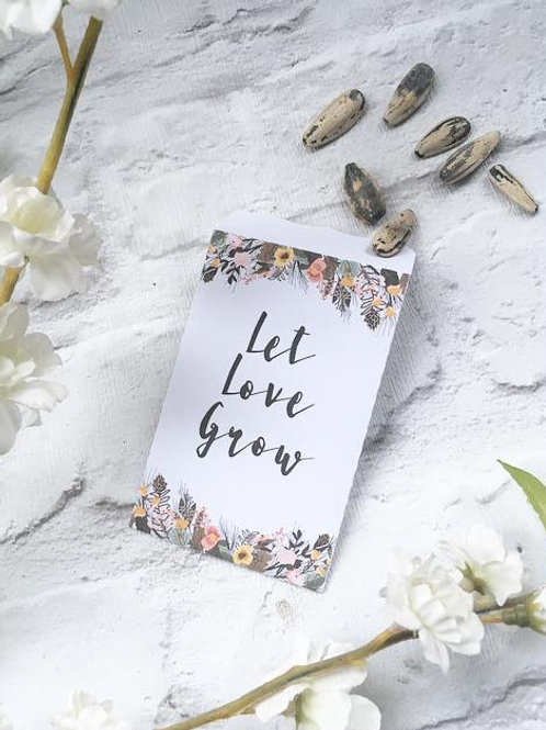 'Let Love Grow' Seed Packet