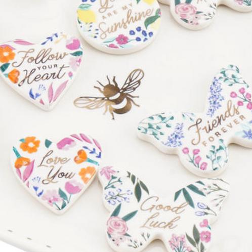 Floral Ceramic Tokens