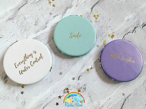 Gold Quoted Compact Mirror