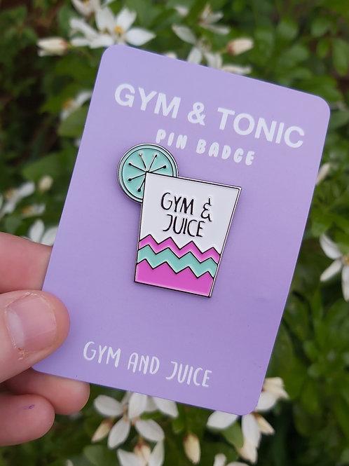 Gym & Juice Brooch