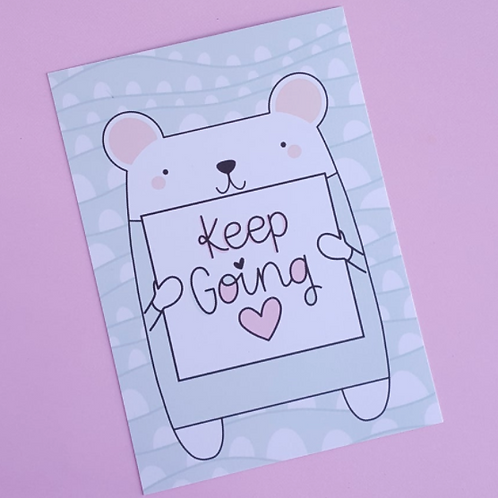 Keep Going Postcard