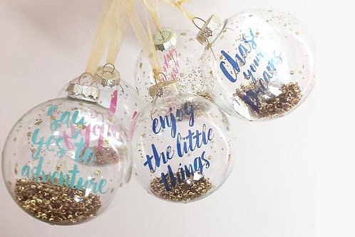 Positivity Baubles- With Postcard