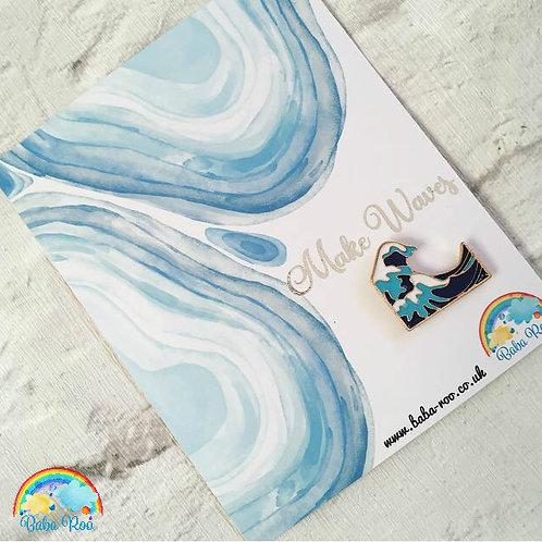 'Make Waves' Pin Brooch