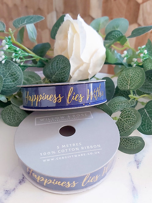 Happiness Lies Within Ribbon