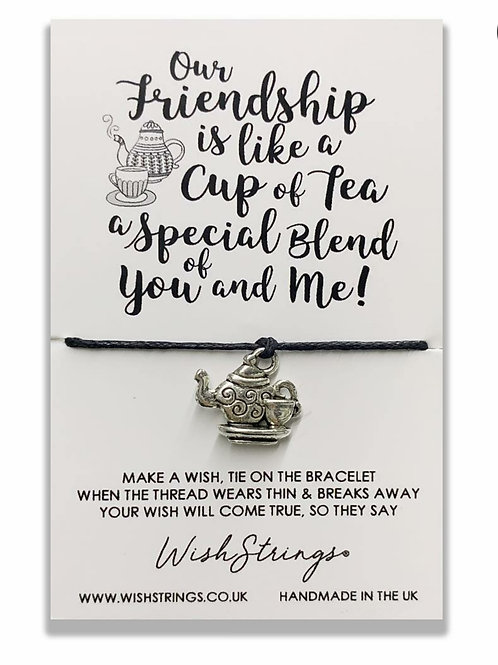 Friendship Cup Of Tea Wish Bracelet