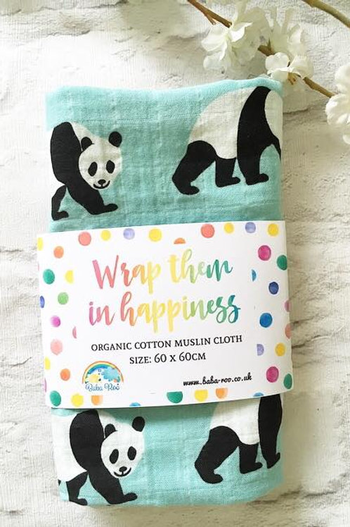 'Panda' Organic Cotton Muslin