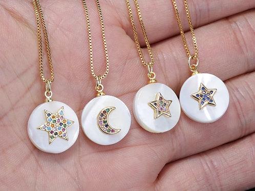 Celestrial Cubic Zirconia Pearl Necklaces