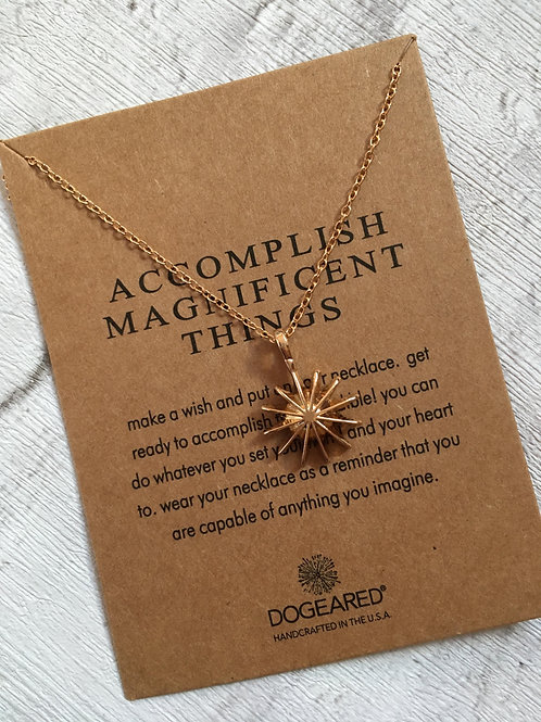 'Accomplish Magnificent Things' Necklace