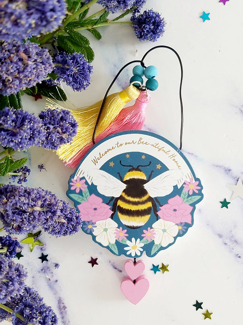 Wooden Bee Mini Signs