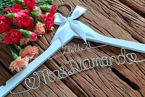 Handmade Wire Bridal Coat Hangers