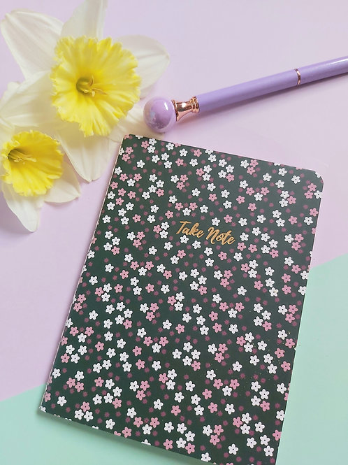 Take Note Floral Notebook