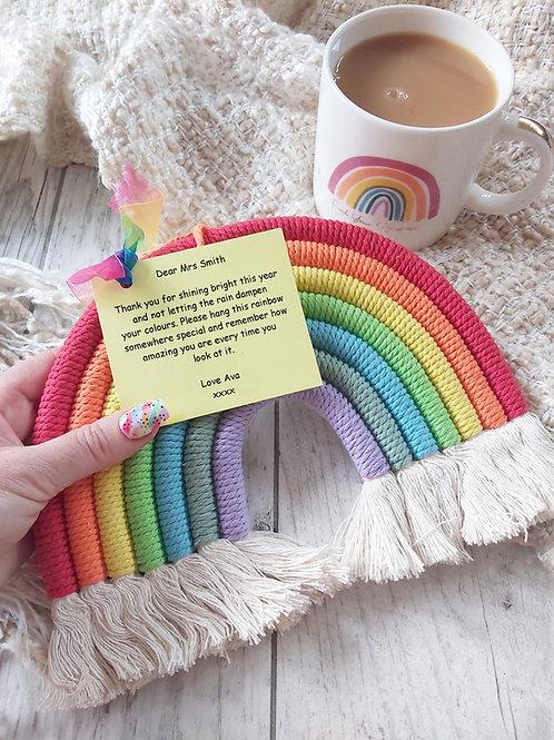 Teacher Macrame Hanging Rainbow