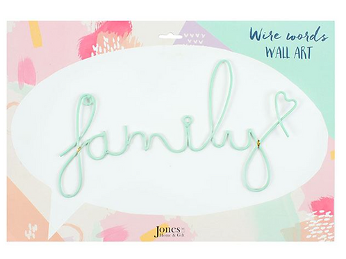'Family' Wire Wall Art