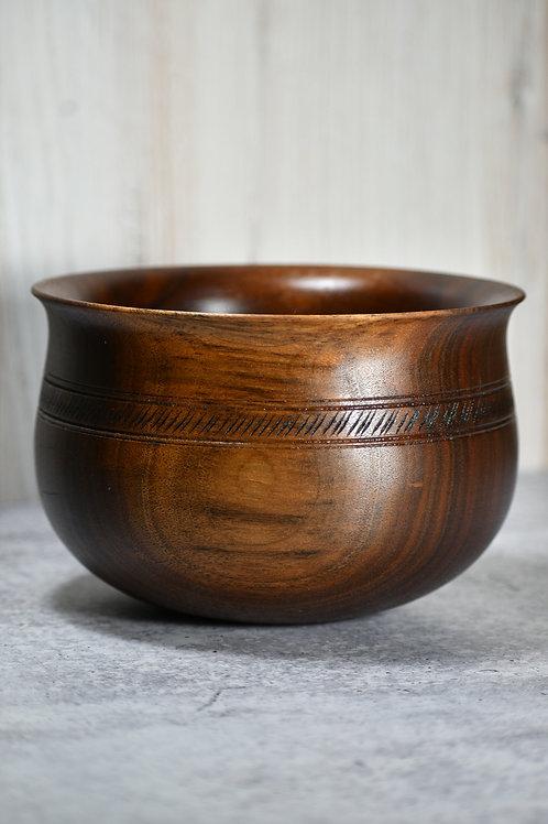 "6 1\2'' Walnut ""Nordic Style"" Bowl"