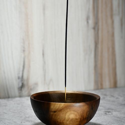 4 3\4'' Walnut Stick Incense Burner
