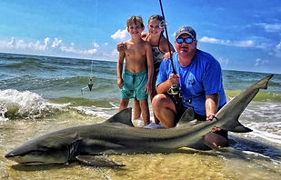 shark fishing   redfish surfing lessons