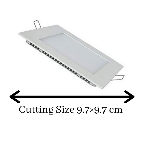 6 Watt Square Warm White (Yellow) Led Conceal Light for POP/ Recessed Lighting