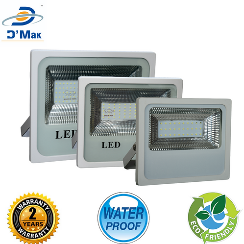 100 Watt Waterproof LED White Body Flood Light For Outdoor Purposes