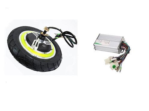 12 INCH 350W 24V BRUSHLESS E-BIKE WHEELS SCOOTER HUB MOTOR + CONTROLLER