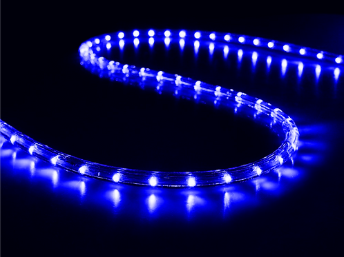 70-75 meter Flexible waterproof Blue LED Rope Light with Adapter