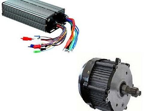 E-Bike 48V 900W 3300RPM BLDC Motor with Compatible E-Bike Controller
