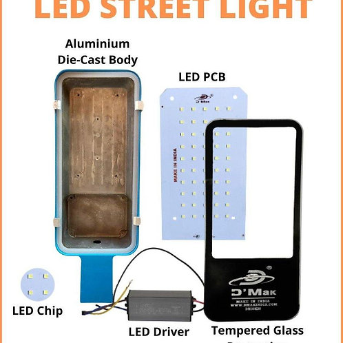 24 Watt Waterproof Led Blue Body Street Light for Outdoor Purposes (White)