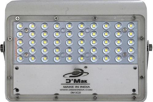 50 Watt LED White Body Flood Light with Lens