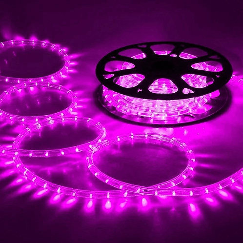 70-75 meter Flexible waterproof Pink LED Rope Light with Adapter