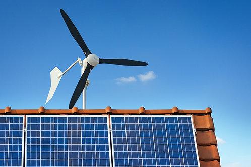 1KW Horizontal Wind turbine on-grid system