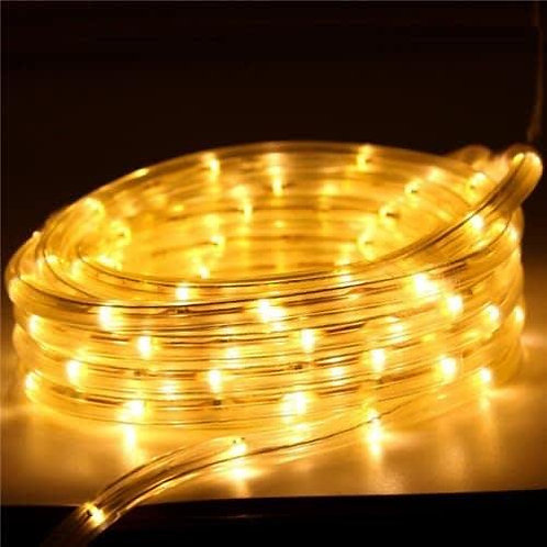 70-75 meter Flexible waterproof Warm White LED Rope Light with Adapter