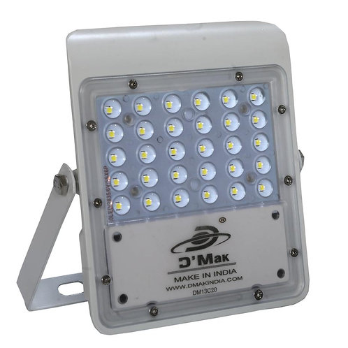 30 Watt LED White Body Flood Light with Lens