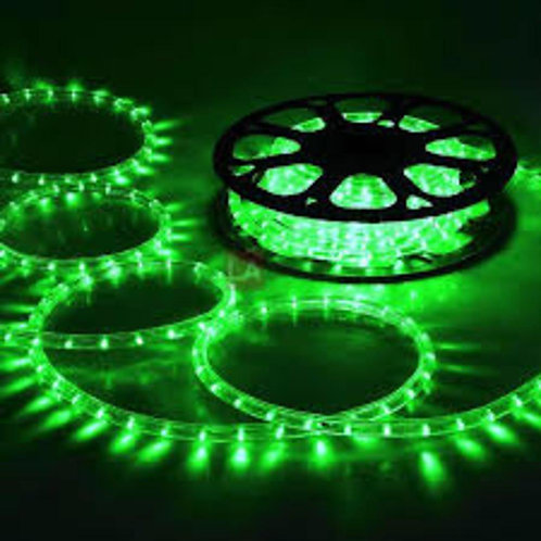 70-75 meter Flexible waterproof Green LED Rope Light with Adapter