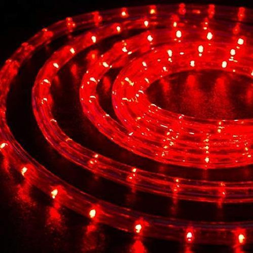 70-75 meter Flexible waterproof Red LED Rope Light with Adapter