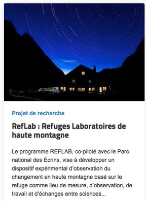 RefLab : Refuges Laboratoires de haute montagne