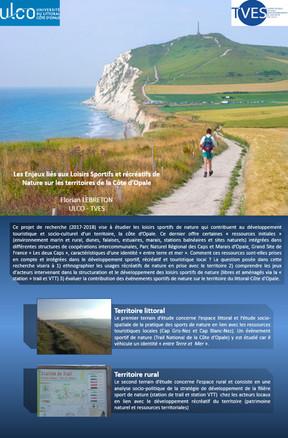 Les Enjeux liés aux loisirs Sportifs et récréatifs de Nature sur les territoires de la Côte d'Op
