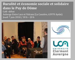 RURALITE ET ECONOMIE SOCIALE ET SOLIDAIRE DANS LE PUY DE DOME - CAFE-DEBAT