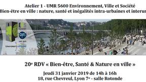 20e RDV « Bien-être, Santé & Nature en ville » (UMR Lyon)