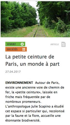 La petite ceinture de Paris, un monde à part
