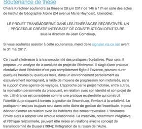 Soutenance doctorale, le 28 juin 2017, IGA Grenoble.
