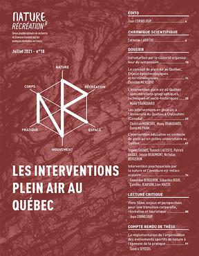 Nature & Récréation : LES INTERVENTIONS PLEIN AIR AU QUÉBEC