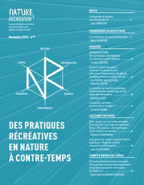Nature et Récréation n°7 : Des pratiques récréatives en nature à contre-temps