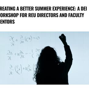 DEI Workshop For REU Directors And Faculty Mentors