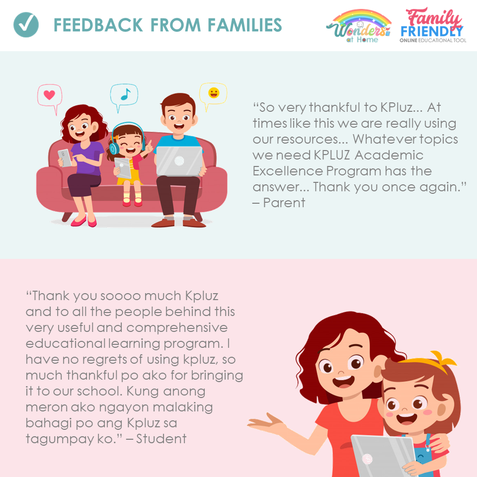 FEEDBACK FROM FAMILIES