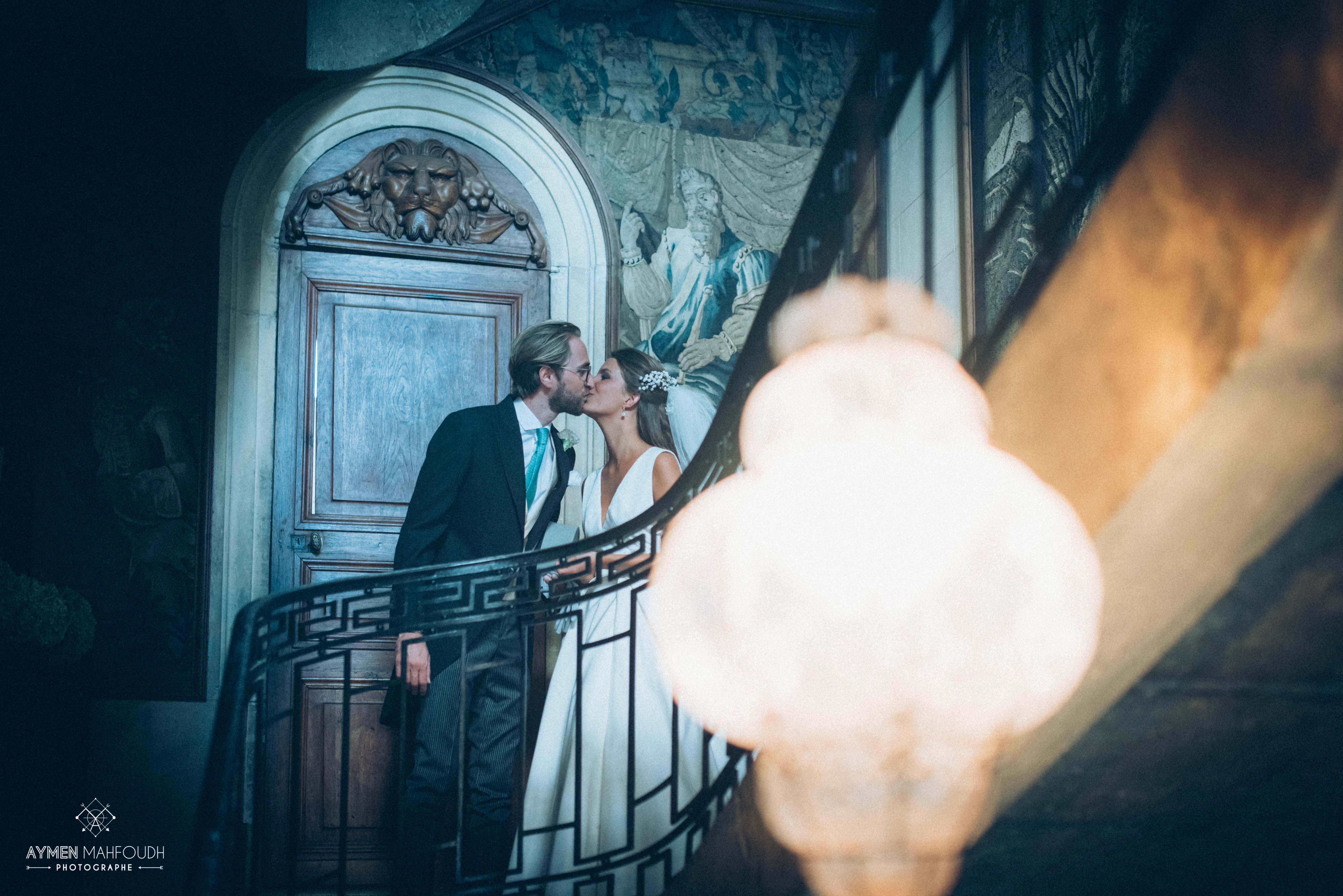 couple dans un château