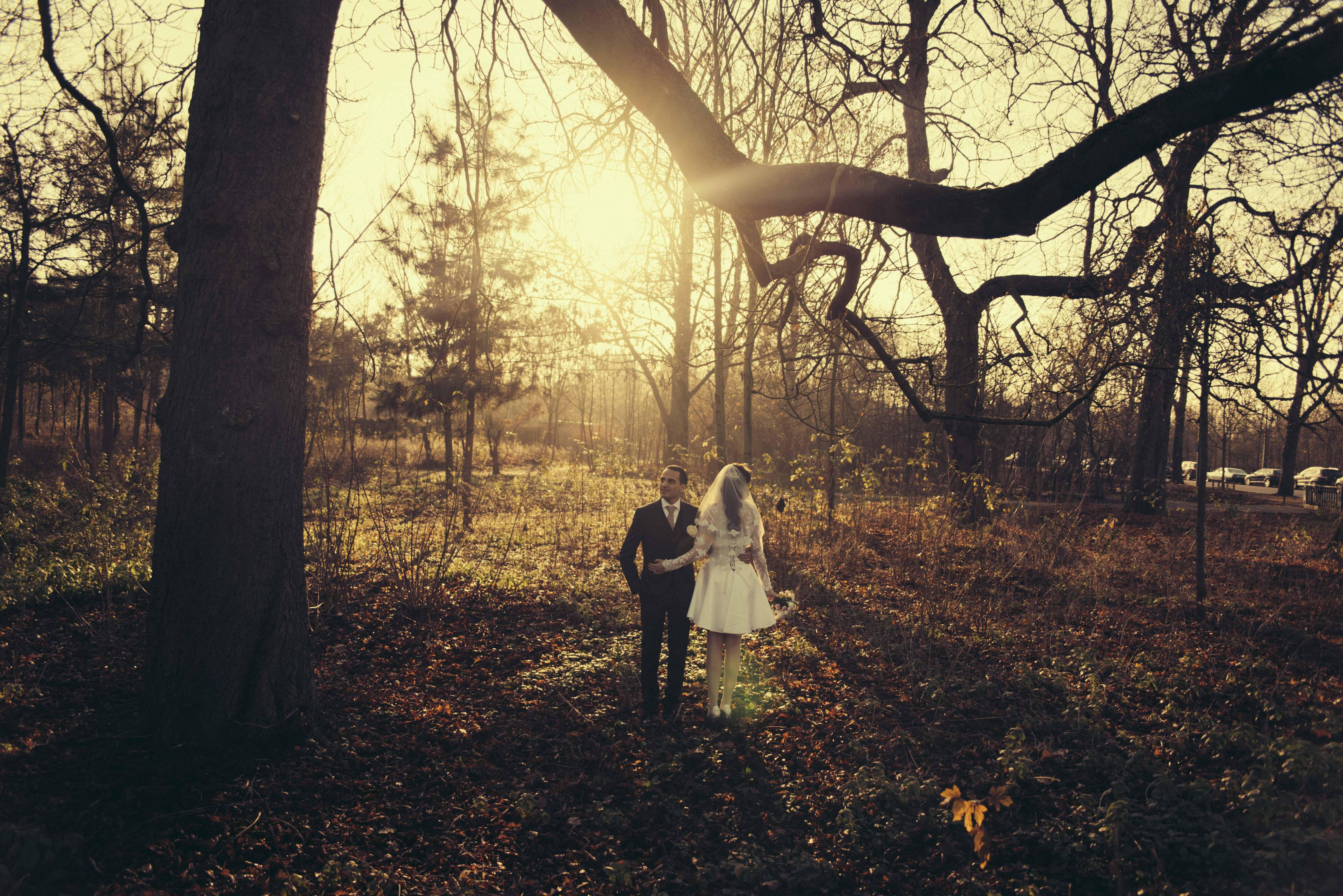 mariage: coucher de soleil