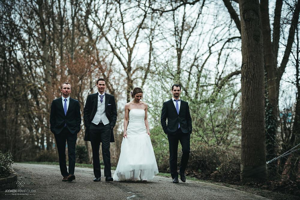 les mariées et les témoins