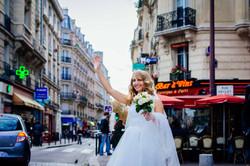 photo de mariage amusante mariée